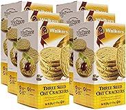 Walkers Shortbread 燕麥籽餅干,9.9盎司/約280克(6盒裝)