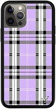 适用于 iPhone 12 Pro Max 的野花限量版手机壳(薰衣草格子)
