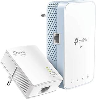 TP-Link TL-WPA7517 KIT AV1000 WLAN AC750 千兆电力线网络适配器(双频 WLAN 速度高达 750 Mbps,非常适合高清电视、节能、即插即用,2 件套)白色