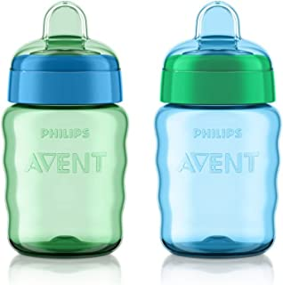 Philips Avent My Easy Sippy 喷嘴 9 盎司杯(2 只装)蓝色