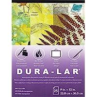 Grafix P05DC0912 透明 .005 Dura-Lar 膜,9 英寸 x 12 英寸,25 张 透明 9x12 in P05DC0912