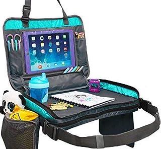 OrganizED EMPIRE's 可拆式 4 合 1 儿童旅行托盘、储物收纳袋、手提袋和平板夹,适合儿童使用。 市场上*稳定的幼童汽车座椅托盘玩具,不需要搭档平衡