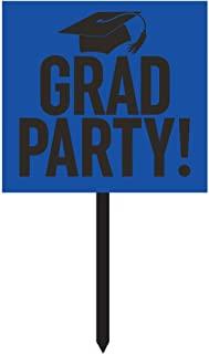 Creative Converting Grad Party 纸院标牌 蓝色 328307