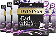 Twinings 茶包 Earl Grey 100 Count (Pack of 4)