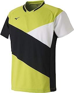 [Mizuno 美津浓] 羽毛球服 运动衫 短袖 标准 动作贴合 吸汗 柔软网球 羽毛球 72MA9011