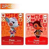 19 号动物和* 89 号 Dina Animal Crossing Amiibo 卡片系列 1。*三方 NFC 卡。防…
