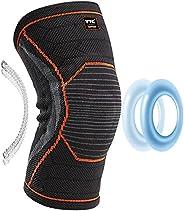 VTG SUPPORT 护膝,男士女士膝盖压缩袖,跑步,锻炼,半月板撕裂,*,缓解膝盖*,ACL,受伤恢复,带髌骨凝胶垫和侧弹簧稳定器(XL)