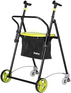 Queraltó 适用于老年人,可折叠钢制,带后轮制动,带篮架和靠背,开心果色
