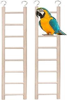 xiaoqun Birdie Basics 8 步木梯,适用于鸟类,14 英寸(2 件)