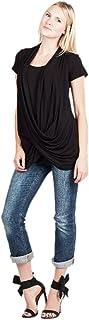 Savi Mom 孕妇护理服十字交叉上衣带美国吊带哺乳衬衫。 超柔软!