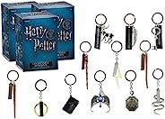 哈利波特收藏版钥匙链神秘盲盒,3 个装 - 收到 12 个神秘钥匙圈 3 个装 - 拼写、魔杖和荷鲁克斯 - 集齐全部 12 个!