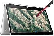 HP Chromebook X360 14 英寸可转换 2 合 1 触摸屏笔记本电脑_ Intel Celeron N4000 高达 2.6GHz_ 4GB DDR4_ 32GB eMMC_ AC WiFi_ Type-