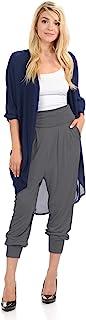 标志性奢华女式松紧带腰带慢跑裤,带口袋