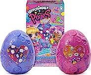Hatchimals Pixies,宇宙糖果精靈 2 件裝,帶 4 個配件和 2 個* CollEGGtiles(款式隨機)