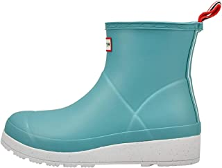 Hunter Boot 女式 Play 短款斑点雨靴 云杉 10 M 美码