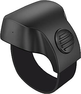 UMIXGENE 相机快门无线智能遥控环,便携式蓝牙无线自拍智能指环 - 兼容 iPhone、iPad、Android、Samsung 三星、智能手机和平板电脑(黑色)