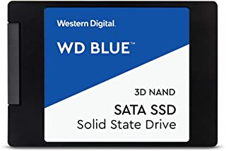 Western Digital WD Blue 2.5英寸固態硬盤 4TB(內置硬盤,高可靠性,SATA 6GB/s接口,128MB高速緩存,防震,WD F.I.T. 經過實驗室認證的多計算機兼容性)