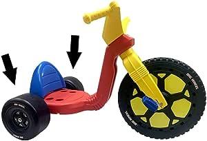 大轮替换零件 - 两个黑色4.5后轮 - 16英寸大轮三轮赛车的替换零件 - 美国制造