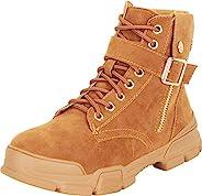 Cambridge Select 女式系带军装登山实用厚底及踝靴