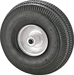 "Rocky Mountain Goods 替换轮胎 4.10/3.50-4"" - 轮胎适用于手推车、购物车、Dolly、Gorilla Cart - 2.25"" 偏距轮毂带气动 5/8"" 滚珠轴承 - 锯齿齿齿轮 - 400 磅 负载能力"