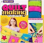 Horizon Group USA 制造的 Made By Me Easy to Knot 被子制作套件,不缝纫,149.86 厘米 x 99.06 厘米羊毛毯,预裁正方形和毛毡贴花 (57964F)