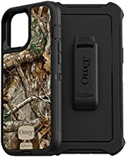 OtterBox Defender 系列无屏版手机壳适用于 iPhone 12 Pro Max - Realtree Edge(黑色/真树边缘图案)