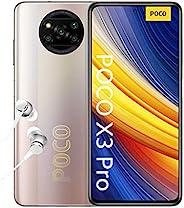 POCO X3 Pro - 智能手机 6+128GB,6.6 英寸 120Hz FHD+ DotDisplay,Snapdragon 860,48MP 四摄像头,5160mAh,金属铜色(英式版)