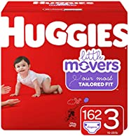 Huggies 好奇 Little Movers 嬰兒紙尿褲 尺碼3 共162片一個月用量 包裝可能有所不同