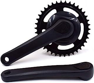 DRIFT MANIAC 单链自行车曲柄臂套装 52/42T 170mm 130BCD 曲柄组方形锥形 适用于城市折叠自行车