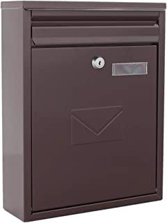 Rottner 棕色 钢 信箱 邮箱 围栏信箱 2 个投掷槽 姓名牌