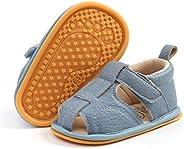 HULYKA 婴儿男孩女孩夏季凉鞋包头防滑沙滩凉鞋学步学步学步鞋