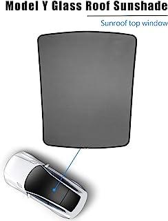 型号 Y 遮阳屋顶窗帘带紫外线/隔热罩兼容特斯拉型号 Y 配件 2021 2020