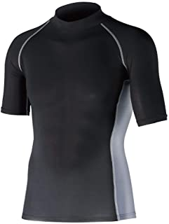 OTAFUKU 手套 Body Tafness 冰感・* 能量弹力 短袖高领衬衫 JW-624 L 黑色 JW-624