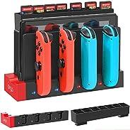 Nintendo Switch Joy-Cons 充电底座,带游戏卡支架,YUANHOT *紧凑充电站支架,适用于 Switch Joy Con 控制器