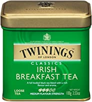 Twinings 川宁 伦敦爱尔兰早餐松散茶罐,3.53盎司(6包),100克