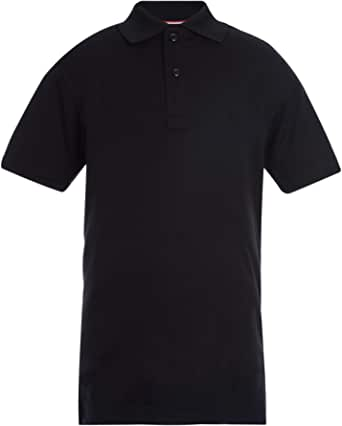Tommy Hilfiger 短袖性能 Co-ed 儿童 Polo 衫