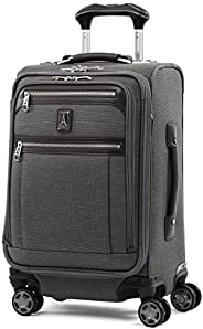 Travelpro Luggage Platinum Elite 20英寸(約50.8厘米)便攜可擴展商務轉輪帶 USB 端口