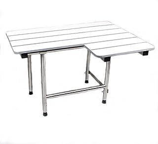 CSI 卫浴用品 SEA-SD3221-LH-PH ADA 浴室淋浴浴室浴室座椅折叠壁挂式左手白色酚醛座椅,32 英寸 x 21 英寸,白色/不锈钢