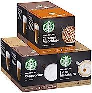 Starbucks 星巴克 Nescafe Dolce Gusto白咖啡胶囊,多种包装,12粒胶囊(6包-共72粒,36份)