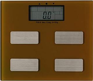IRIS PLAZA 体重计 身体成分计 健康仪子 超薄型 茶色 FEF-I08B-BR 棕色