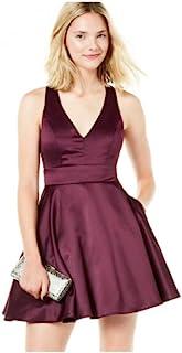 City Studios 青少年蝴蝶结后背修身喇叭裙 紫红色 7