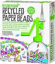 4M 创意再生纸珠套件-艺术与手工艺品装饰艺术礼品,适合儿童,青少年,男孩和女孩,绿色