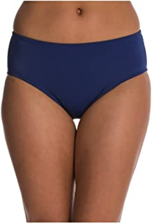South Point 游泳女士泳装分体分体分体式比基尼短裤裙装上衣和下装(10,高腰比基尼(深海蓝))