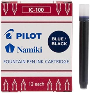 Pilot Namiki IC50 钢笔墨盒 12片装 蓝色/黑色