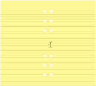 Filofax 黄色纸 (B133010)