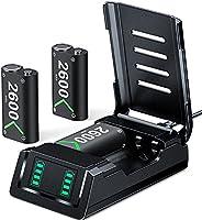 控制器电池组替换件 适用于 Xbox One/Xbox 系列 X|S、VOYEE 3 x 2600 mAh 可充电电池组兼容 Xbox 系列 X|S/Xbox One/Xbox One S/Xbox One X/Xbox