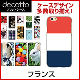 Xperia Z2 SO-03F *智能手机壳 【 国旗01 花纹 】 [透明(透明) 壳]cpc-so-03f-nnfga0b1 法国