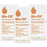 Bio-Oil 护肤油,8.5 盎司(约 24.1 克),3 支装身体油,适用于*痕和*,为肌肤补水,不油腻,皮肤推荐…