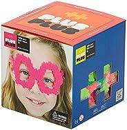 PLUS PLUS – 開放式游戲套裝 – 1,200 片 – 霓虹色混合,建筑建筑建筑桿/蒸汽玩具,聯鎖兒童迷你拼圖