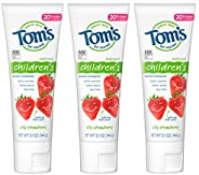 Tom's of Maine 防龋齿儿童牙膏,天然牙膏,草莓味,5.1盎司/144克